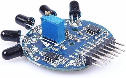 5 Way Flame Sensor Module Analog Output Fire Extinguisher Robot Arduino