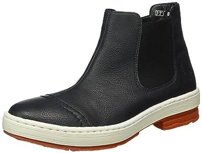 ac2fbc032f40d7 Rieker Damen Z6754 Chelsea Boots Blau (Ozean   15) 37 EU  Amazon.de ...