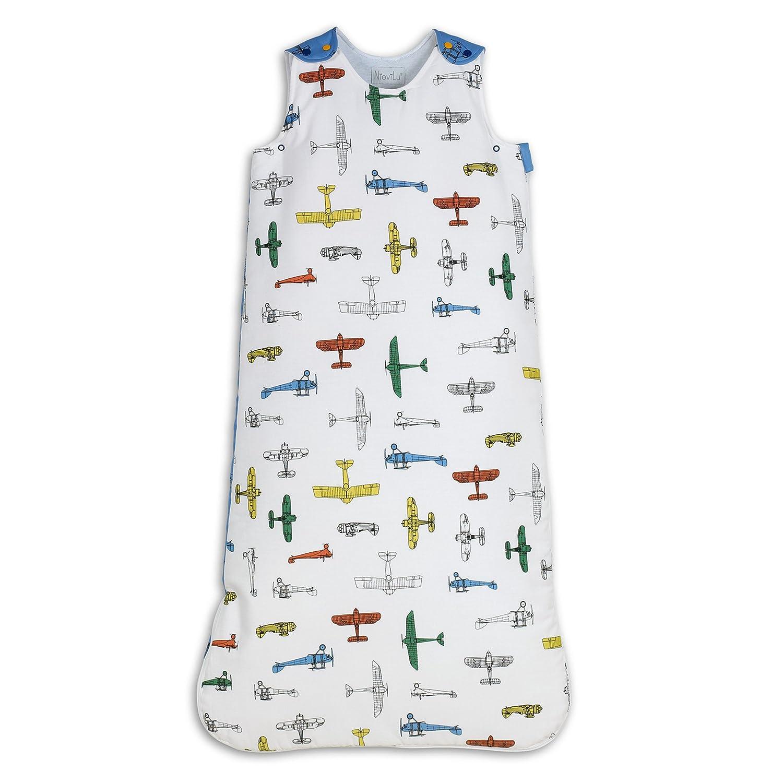 Flotte D Avions 0-6 Monate // 70 cm - 1 Tog NioviLu Design Baby Schlafsack