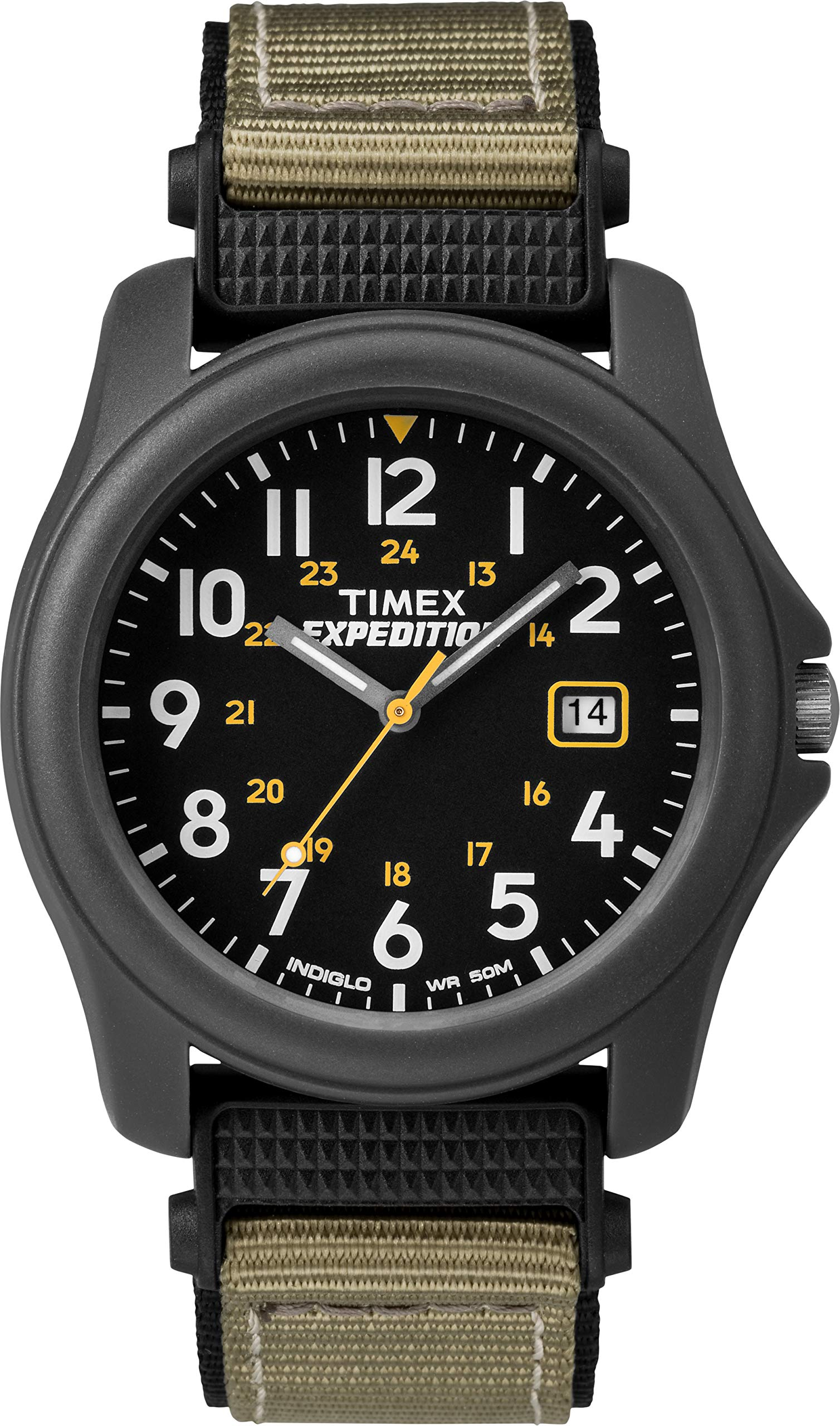 Unisex Quartz Camper Watch with Dial Analogue Digital Display and Nylon Strap