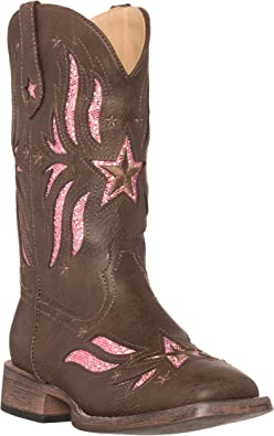 Canyon Trails Kids Lil Cowboy Pointed Toe Classic Western Rodeo Boots Toddler//Little Kid