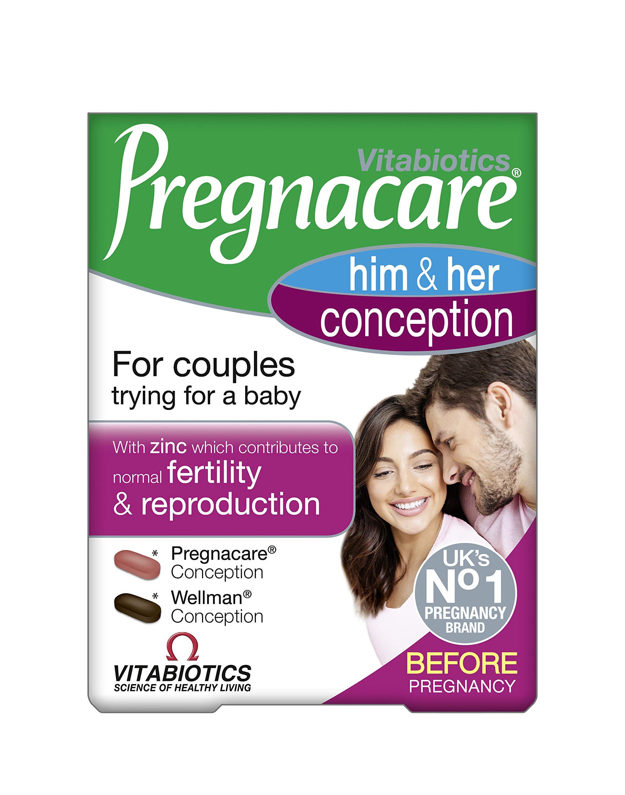 Vitabiotics - Pregnacare - His & Her Conception - 2x30 Tablets