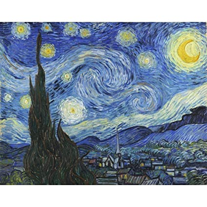 Niik Quadro + Telaio (BB) notte stellata di vincent van gogh 60 x 47 ...