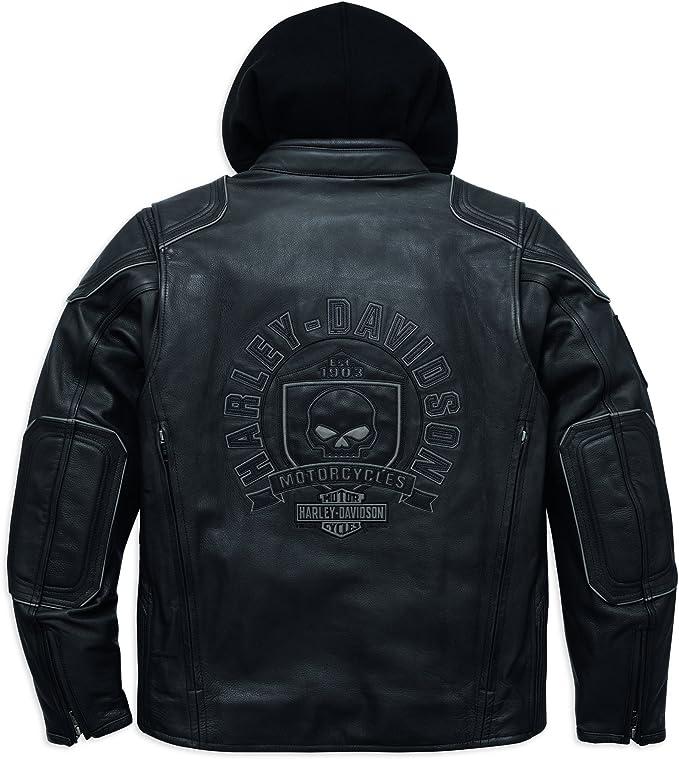 Harley Davidson Auroral 3 In 1 Leather Jacket 98097 16vm Herren Outerwear Schwarz Xxxl Bekleidung
