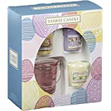 Yankee Candle 3 Votive and 1 Holder Giftset, Multi-Colour, 8.5 x 17 x 19 cm