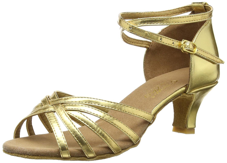 Herstellergröße:36 Amurleopard Damen Latein Schuhe 5cm Absatz Gold 35 Weitere Sportarten