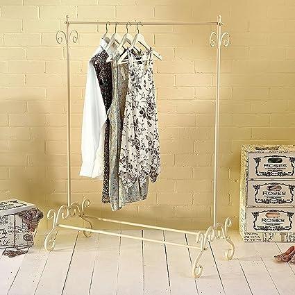 Shabby Chic ropa perchero de metal diseño Vintage estilo colgante soporte