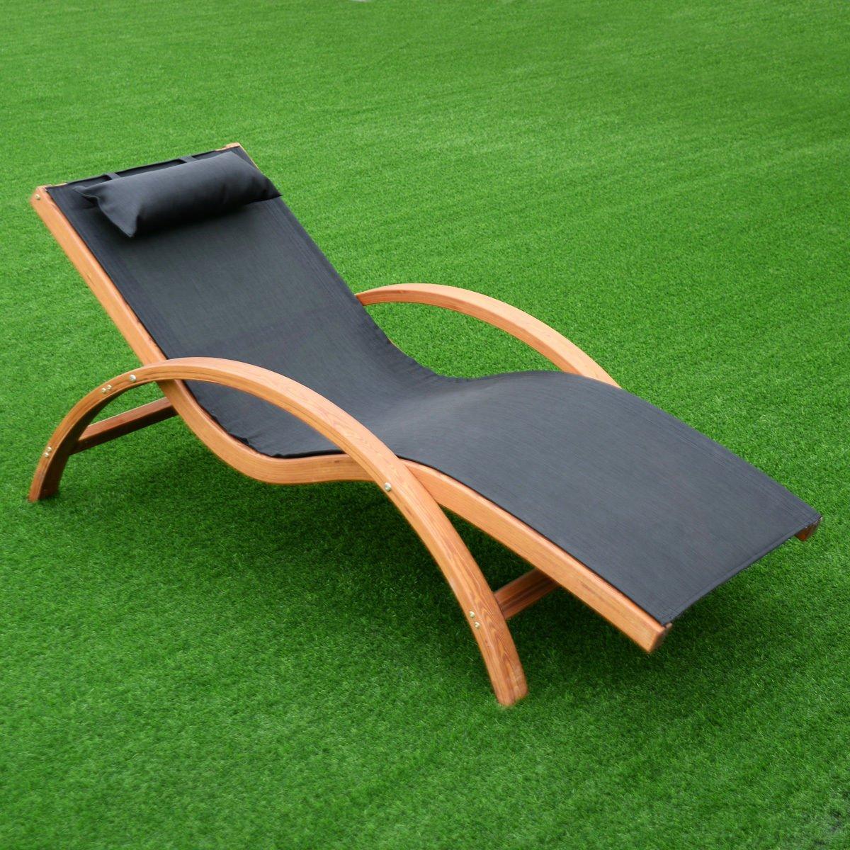 Amazon.com: salones nueva silla madera de alerce Patio ...