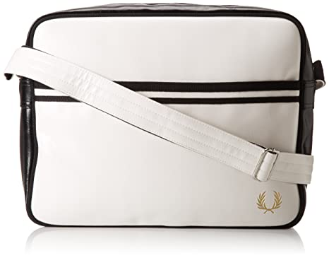 0df407ca889a Fred Perry Classic Shoulder Bag in White and Black  Amazon.co.uk  Clothing