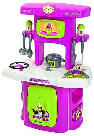 Amazon.es: Masha y el Oso Cocina de juguete (Smoby 7600001733 ...