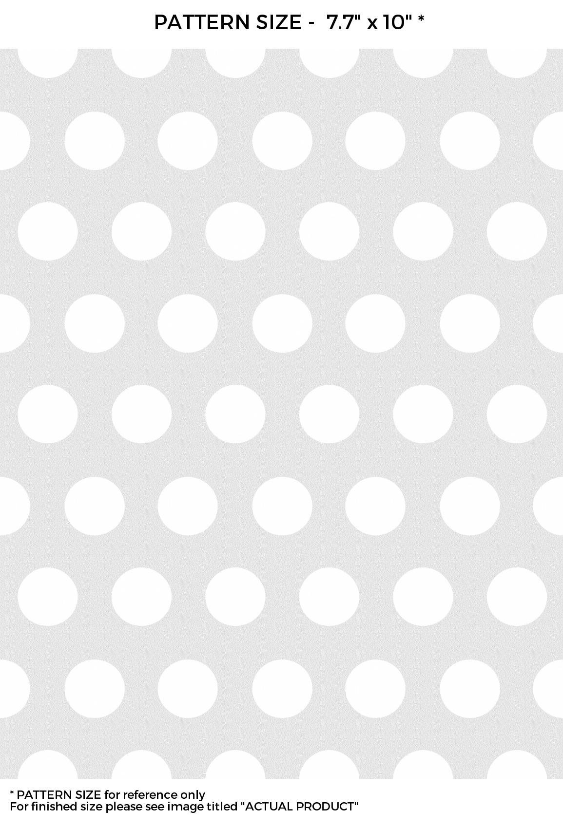 WindowPix 12 x 48 White Polka Dotted Wall Pattern Frosted Window Film Privacy Static Cling Film UV Filtering Energy Saving