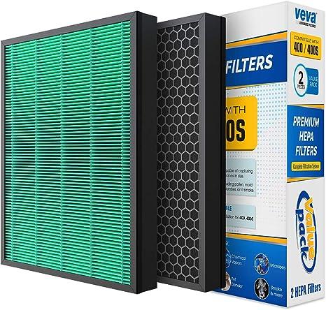 VEVA Complete 2 Premium HEPA Filtro de Repuesto Airmega 400/400S ...