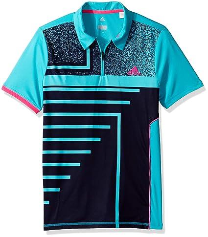 4467a309 adidas Tennis Seasonal Polo, Hi-Res Aqua, Medium: Amazon.in: Sports ...