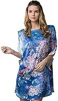 Grace Silk 100% Silk Nightgown, Button Sleeved