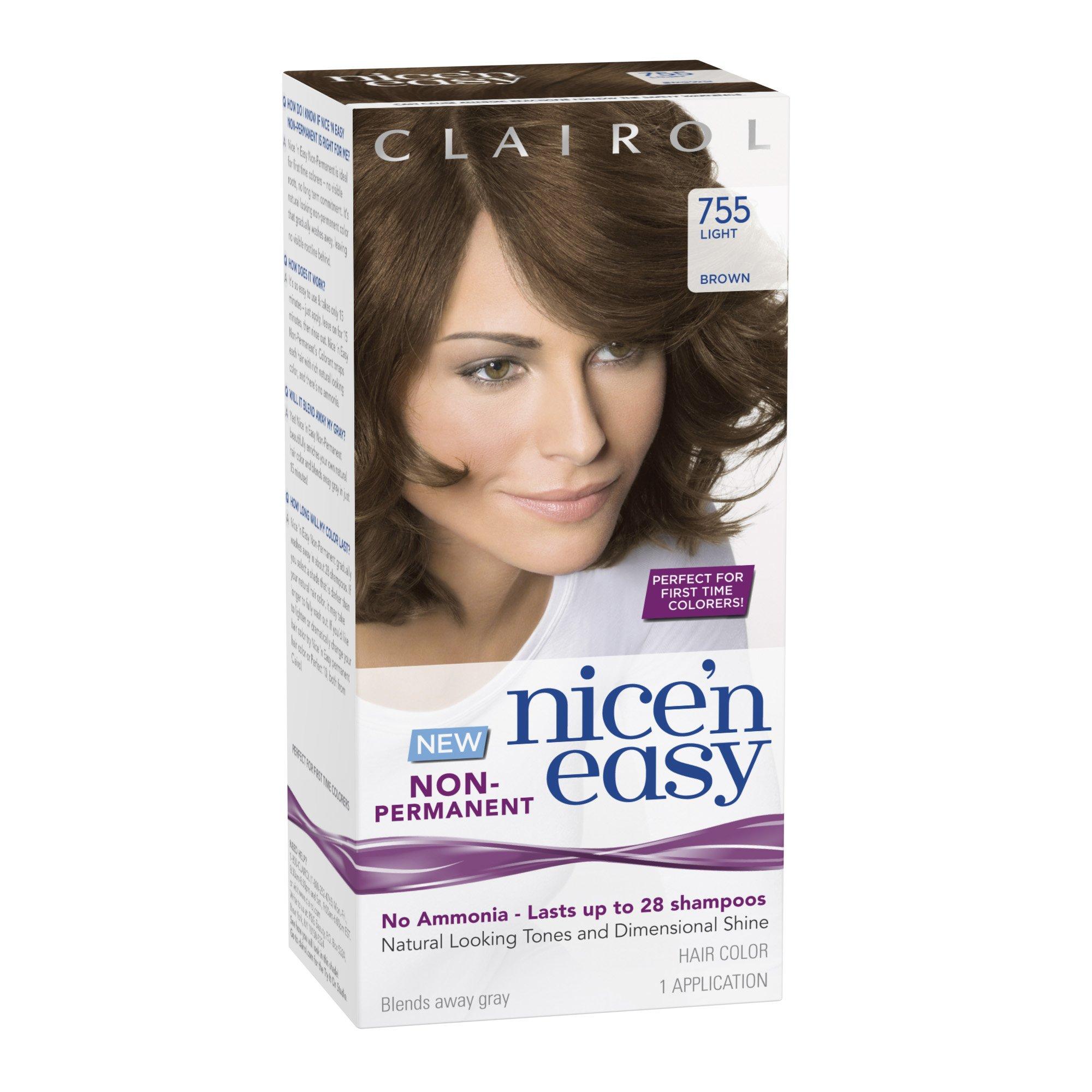 Amazon.com : Clairol Nice \'N Easy Non-Permanent Hair Color 79 Dark ...