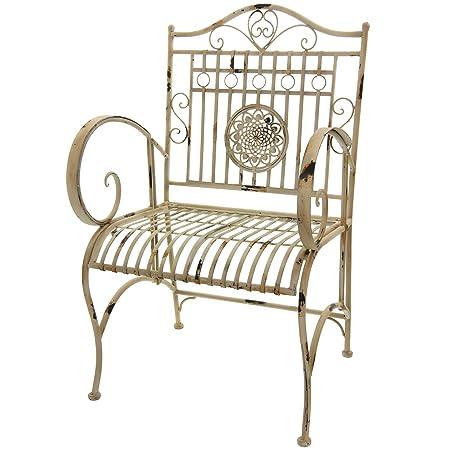 Oriental Furniture Rustic Garden Chair – Distressed White