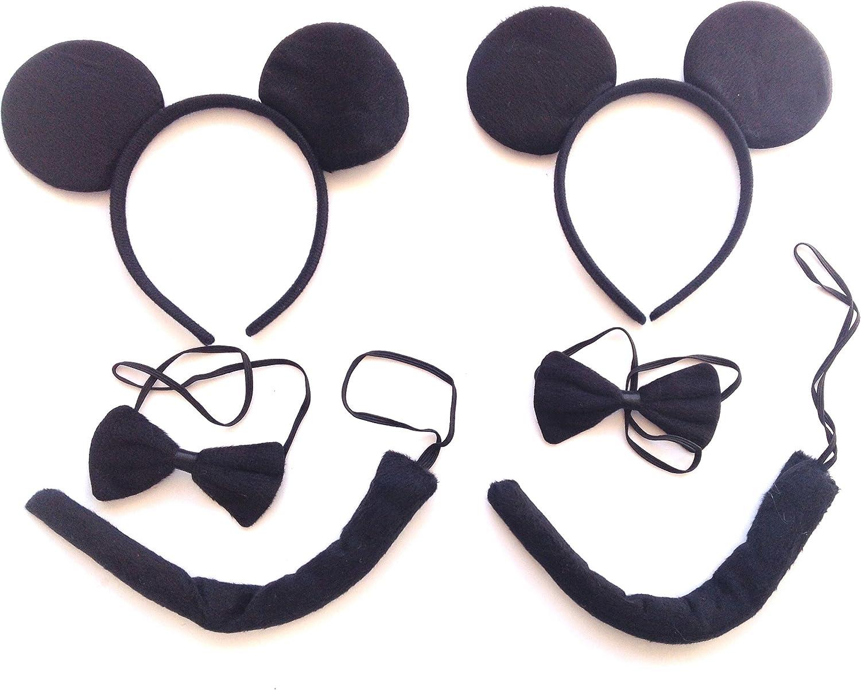 w.s.t Disfraz Black Mouse,Accesorio de Disfraz,2 Paquetes.: Amazon ...