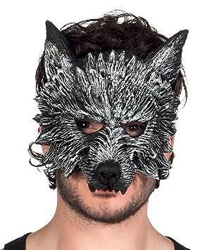 BOLAND BV Boland 97516 mezzo-viso máscara de hombre lobo de hombre lobo, gris