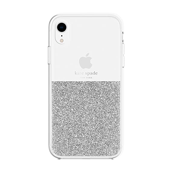 the best attitude 54be5 7ec4b Kate Spade New York Phone Case | for Apple iPhone XR | Protective Clear  Crystal Phone Cases with Slim Design and Drop Protection - Silver