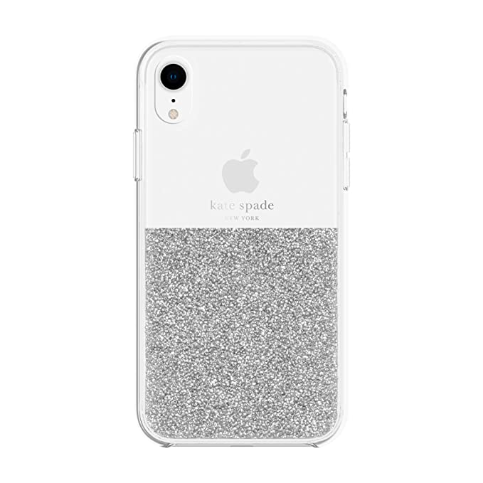 the best attitude d7f75 dbfd8 Kate Spade New York Phone Case | for Apple iPhone XR | Protective Clear  Crystal Phone Cases with Slim Design and Drop Protection - Silver