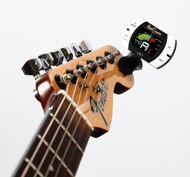 Afinador de guitarra de clip cromático para guitarra, bajo, violín ...