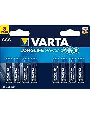 VARTA Longlife Power AAA Micro LR03 Batterie, Alkaline Batterie, ideal für Spielzeug Taschenlampe Controller und andere batteriebetriebene Geräte (8er Pack)