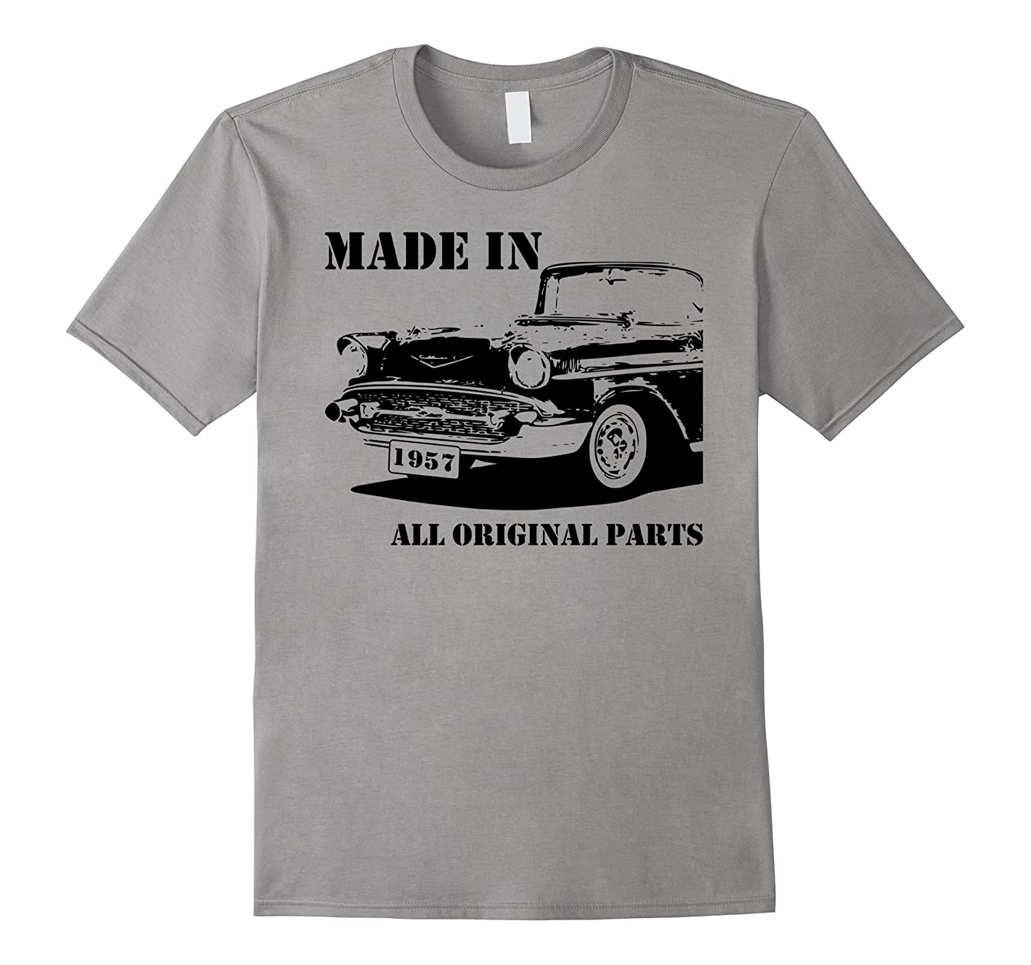 60th Birthday Vintage Car Made in 1957 Gift idea Man T shirt-BN