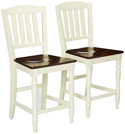Excellent Amazon Com 247Shopathome Idf 3216Pc Dining Chairs White Ibusinesslaw Wood Chair Design Ideas Ibusinesslaworg