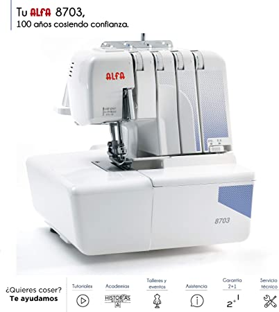 Alfa 8703 Overlock Máquina remalladora: Amazon.es: Hogar