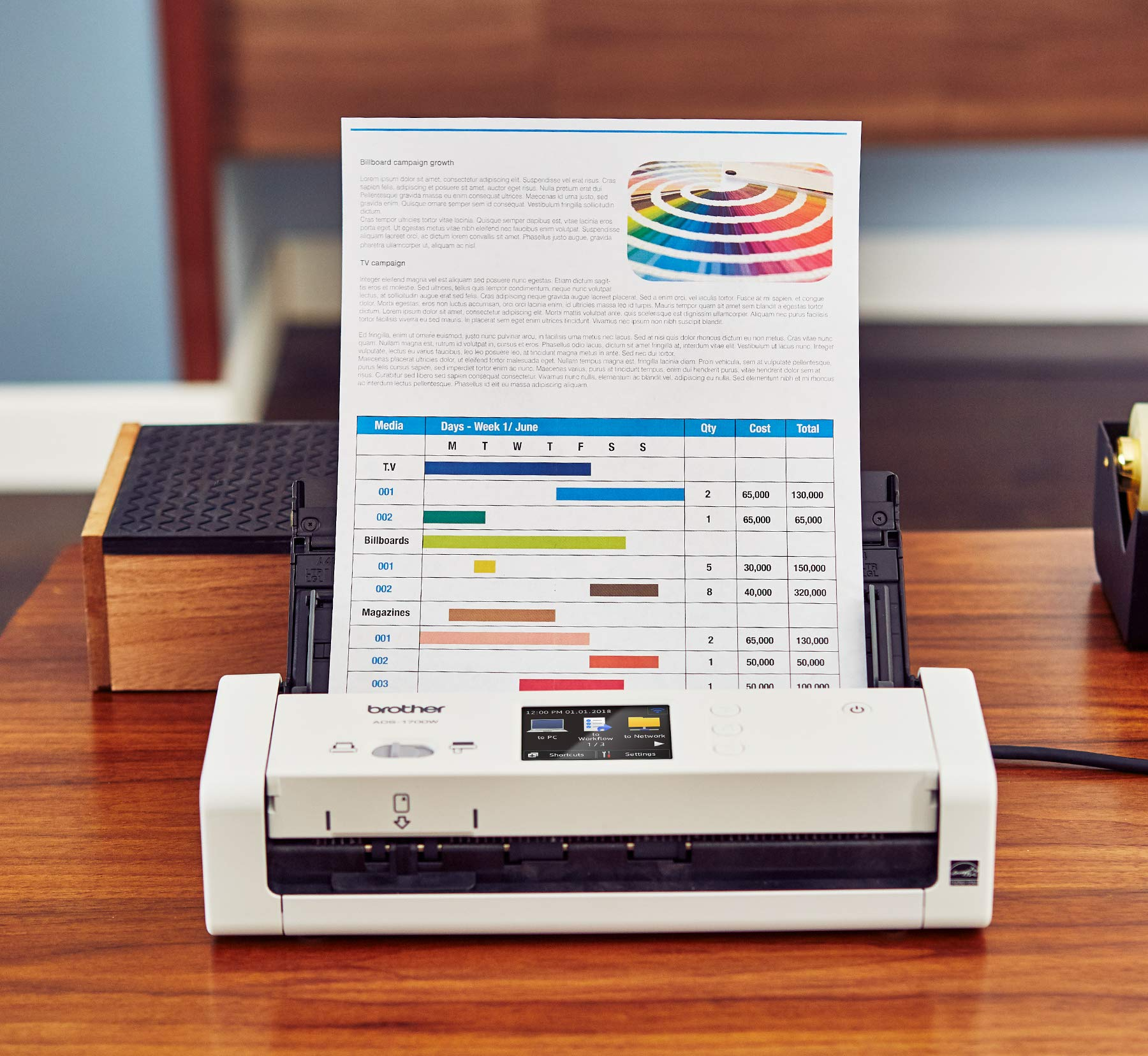 Brother Wireless Compact Desktop Scanner, ADS-1700W, Fast Scan Speeds, Easy-to-Use, Ideal for Home, Home Office or On-the-Go Professionals by Brother (Image #3)