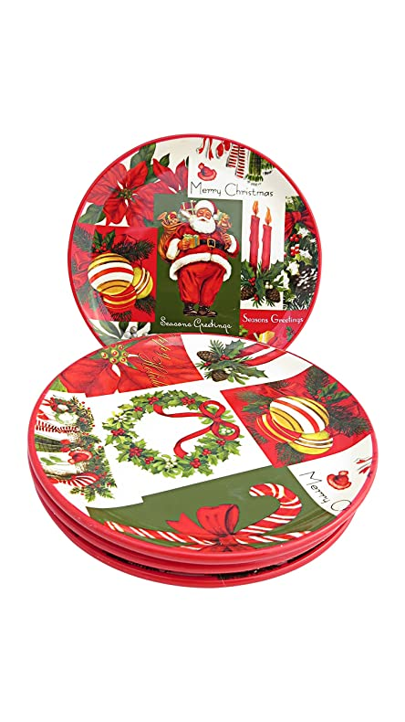 Martha Stewart Collection Set of 4 Holiday Vintage Paper Appetizer Plates  sc 1 st  Amazon.com & Amazon.com | Martha Stewart Collection Set of 4 Holiday Vintage ...