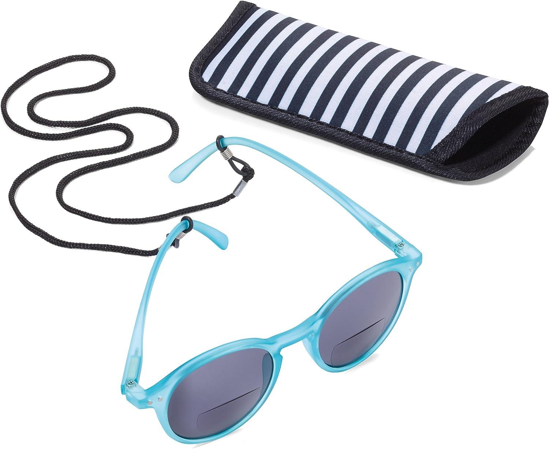 con Estuche Blanco SUR30//WH TROIKA Sun Reader 2 policarbonato//acr/ílico//Microfibra Gafas de Sol y Lectura graduaci/ón +3,00 dpt bifocal TROIKA-Original