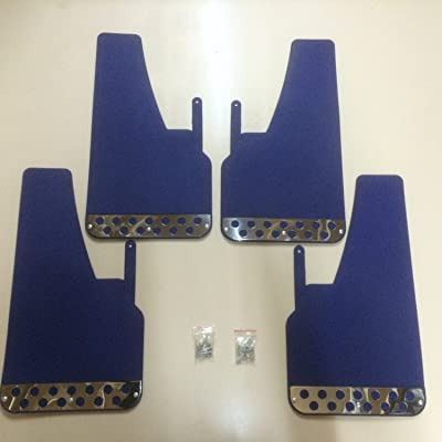 RALLY MUDFLAPS BLUE X 4 UNIVERSAL FIT MUDFLAPS: Automotive [5Bkhe0413611]