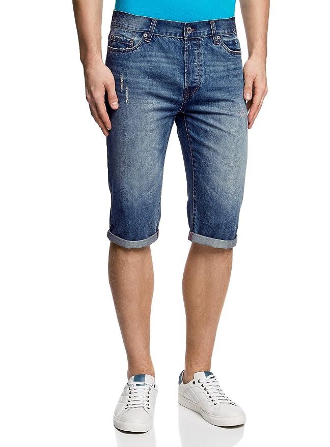 oodji Ultra Hombre Pantalones Cortos Vaqueros, Azul, W36 / ES 48: Amazon.es: Ropa y accesorios