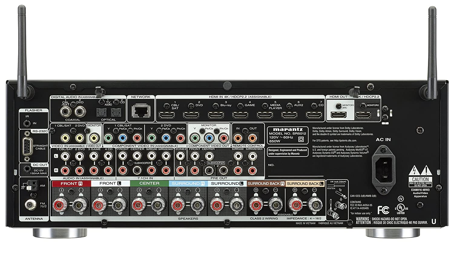 Marantz SR5012 7.2 Channel Full 4K Ultra HD Network AV Surround Receiver with HEOS Black, Works with Alexa Discontinued by Manufacturer