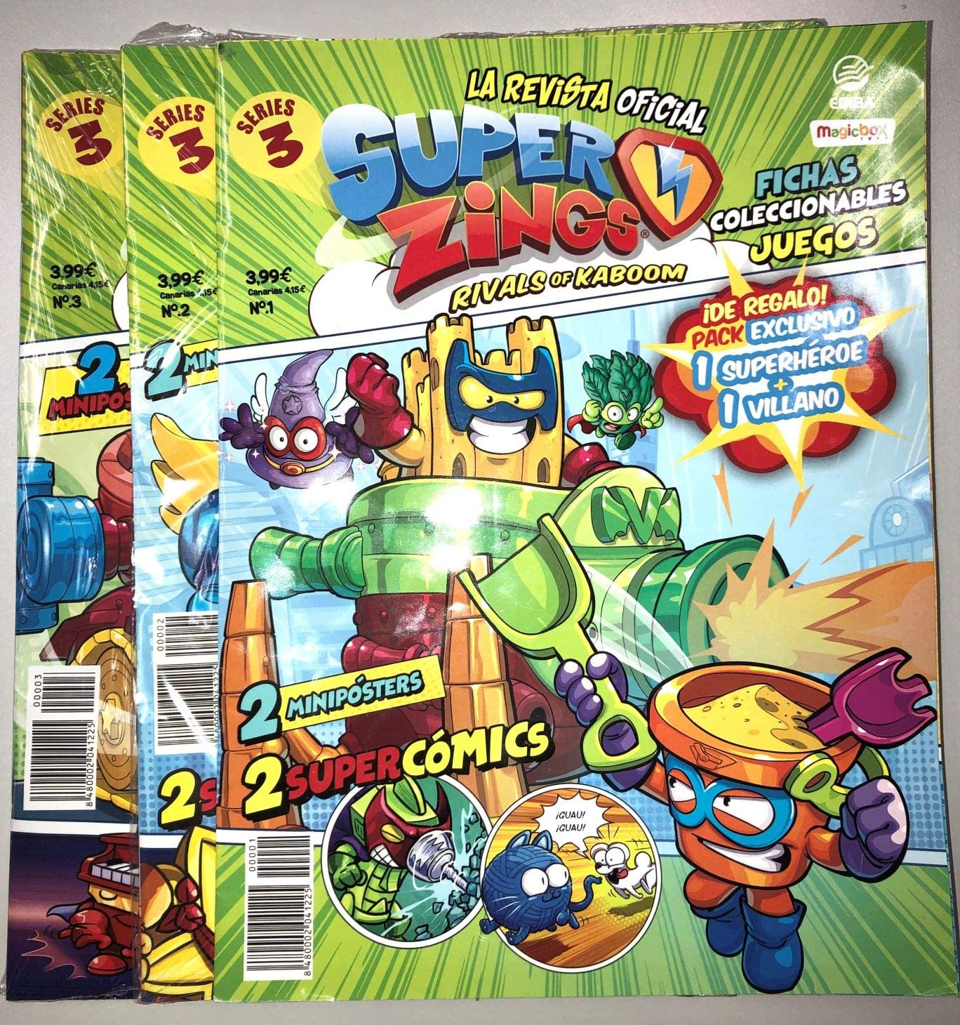 EDIBA Pack Revista Oficial Superzings Series 3