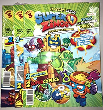 EDIBA Pack Revista Oficial Superzings Series 3: Amazon.es: Juguetes y juegos