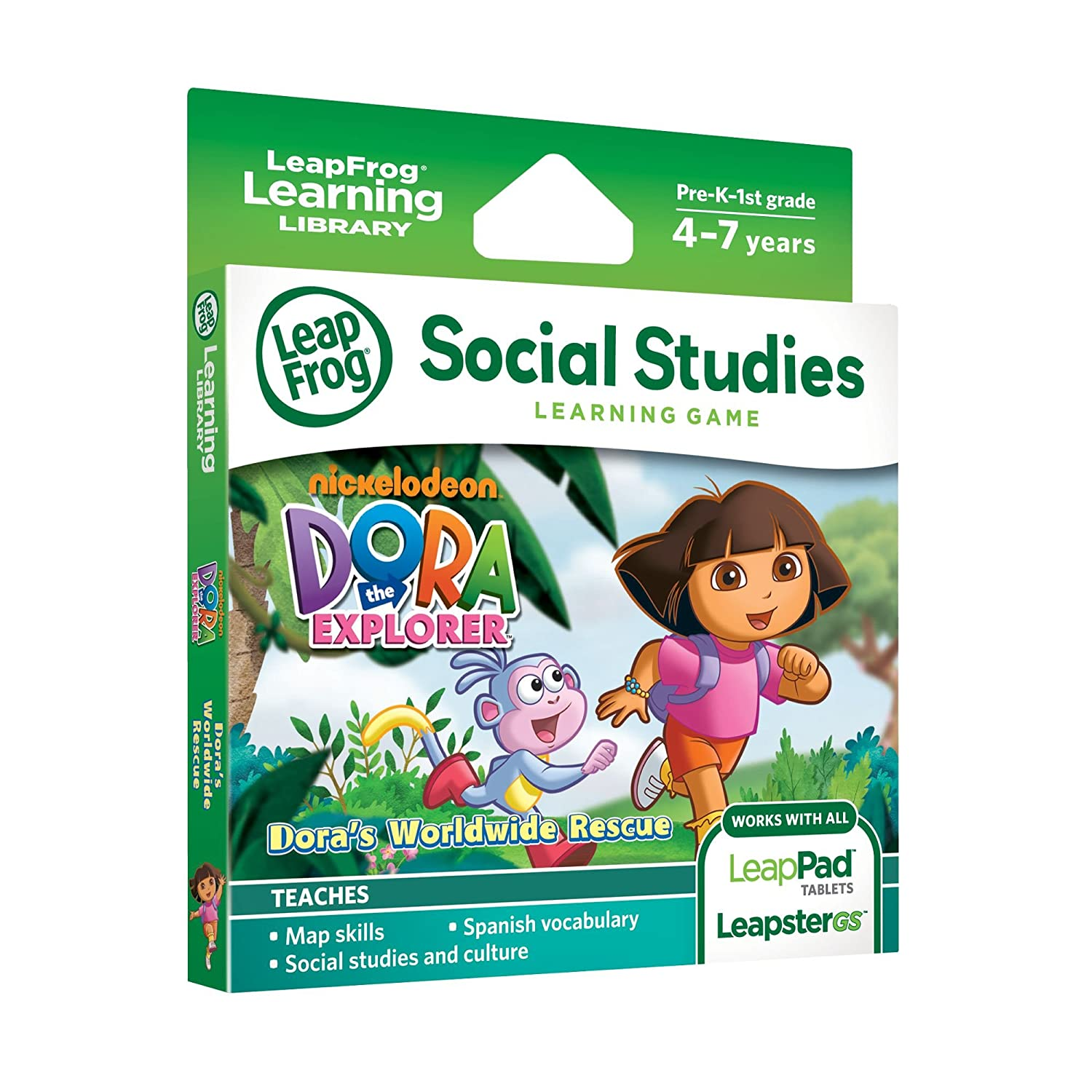 LeapFrog Dora the Explorer Learning Game works with LeapPad Tablets and LeapsterGS