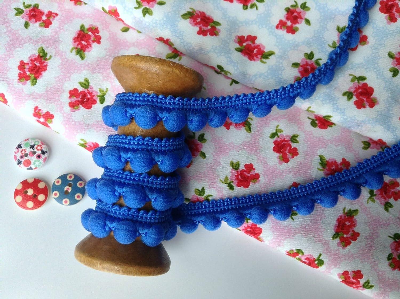Turquoise 0.4 Per Meter 26 Colours Pompoms Size Mini 10Mm HomeBuy Pearl Pom Pom Bobble Trim 1M