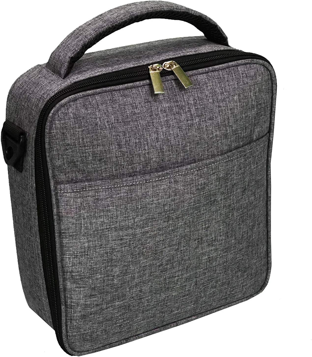Uzinb Cotone Lino Grande Insulated Lunch Box Bag di Alluminio Livelli Pranzo del Fumetto del Sacchetto di Tote Bag