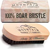 Beard Brush for Men - 100% Pure Boar Hair Natural Bristle for Beard, Moustache - Handmade Wood Handle – No Snags, No Scratch, Gentle Bristle Combing Brush
