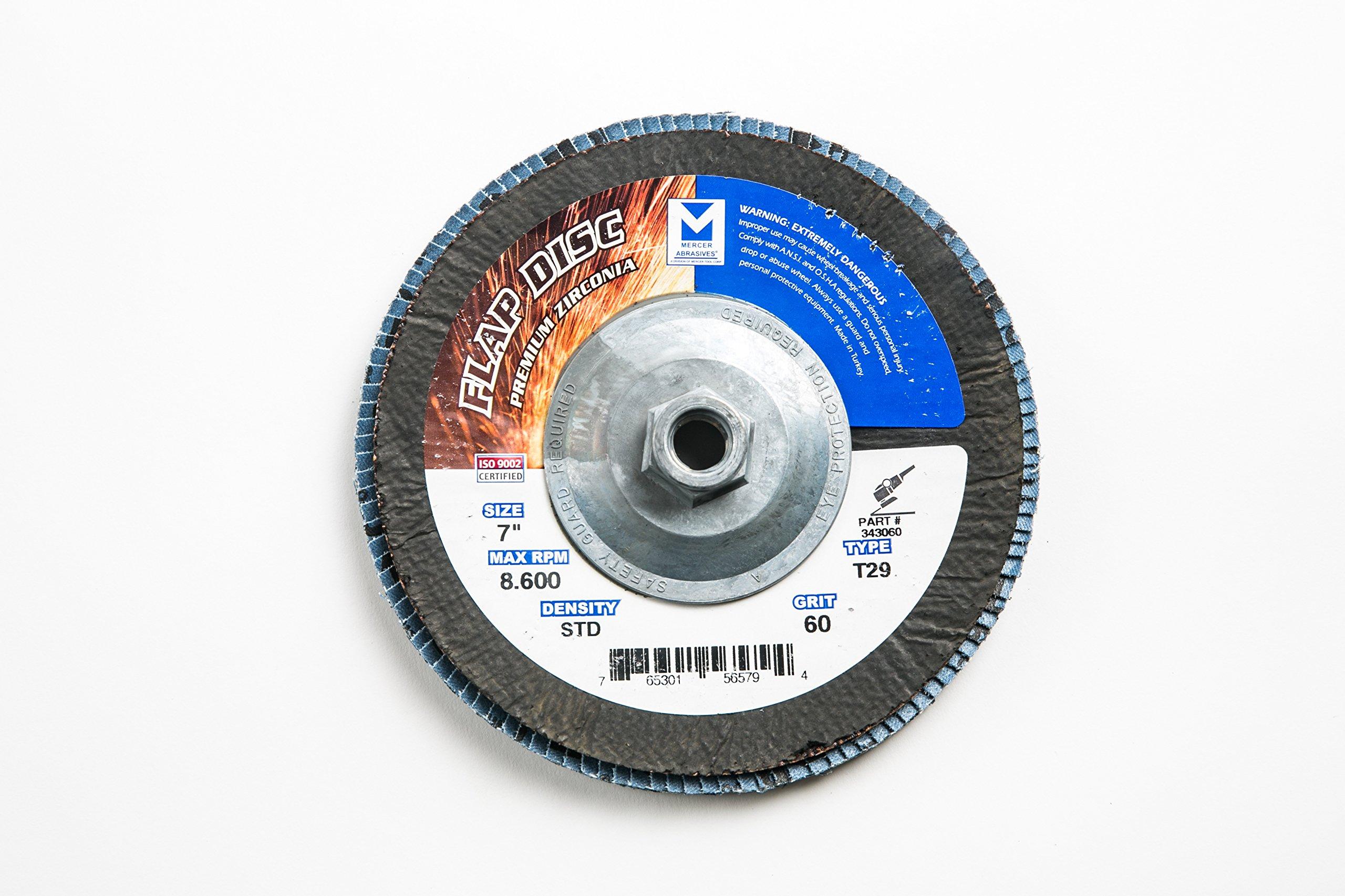 Mercer Industries 343H060 Zirconia Flap Disc, Type