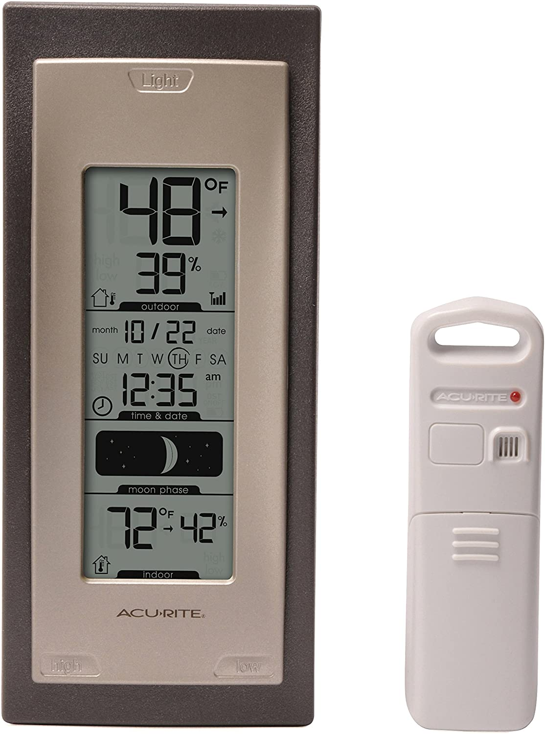 Amazon Com Acurite 00592a4 Wireless Indoor Outdoor Thermometer With Humidity Sensor Home Kitchen