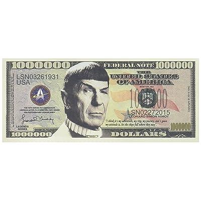 Set of 5 - Leonard Nimoy Star Trek Spock Collectible Million Dollar Bill: Toys & Games