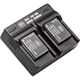 BM Premium 2 LI-90B, LI-92B Batteries and Dual Battery Charger for Olympus Tough TG-6, TG-5, TG-Tracker, Tough SH-1, SH…