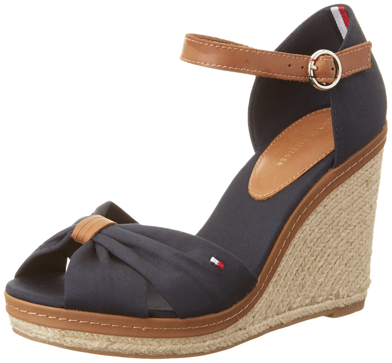 606897c91db Amazon.com: Tommy Hilfiger Iconic Elena Womens Wedge Sandals: Shoes