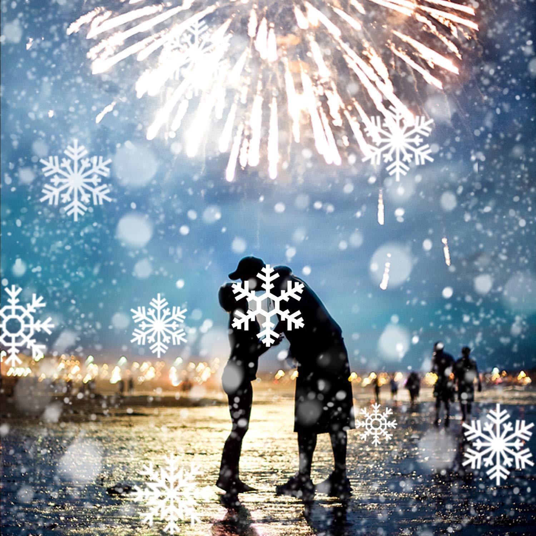 Weihnachtsbeleuchtung Aussen Schneefall.Led Schneeflocke Projektor Licht Unifun Wasserdicht Schneefall