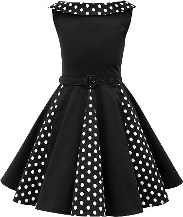 BlackButterfly Niñas Alexia Vestido de Lunares Vintage Años 50 ...