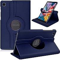 Capa Case 360 Giratória Galaxy Tab A7 Lite 8.7 Couro T220/25 (Azul-Marinho)