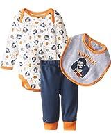 BON BEBE Baby-Boys Newborn Football Bodysuit with Bib and Pant Set